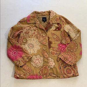 GapKids corduroy jacket. Floral print. Quilted.